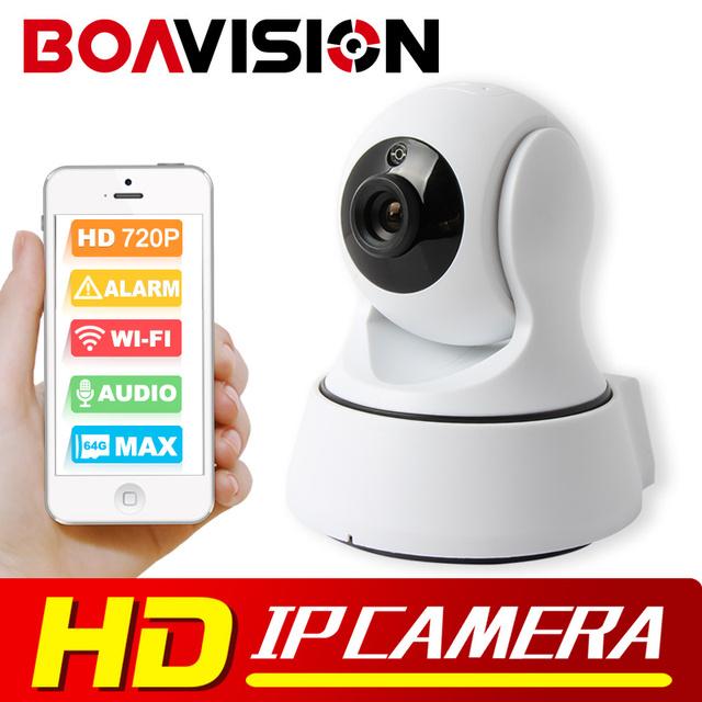 Boavision 1.0mp câmera ip sem fio wifi night vision hd 720 p Câmera inteligente de Duas Vias de Áudio Câmera de Vigilância Em Casa CCTV P2P vista