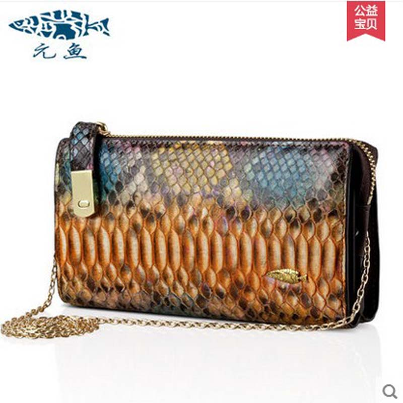 yuanyu 2018 new hot free shipping real Python leather women single shoulder bag fashion women bag chain bag women clutches yuanyu 2018 new hot free shipping python skin women handbag single shoulder bag inclined female bag serpentine women bag