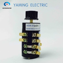 цена на Changeover switch 6 position rotary switch 4 level 20A 50Hz 16 terminals star type handle HZ5B-20/4-3-1
