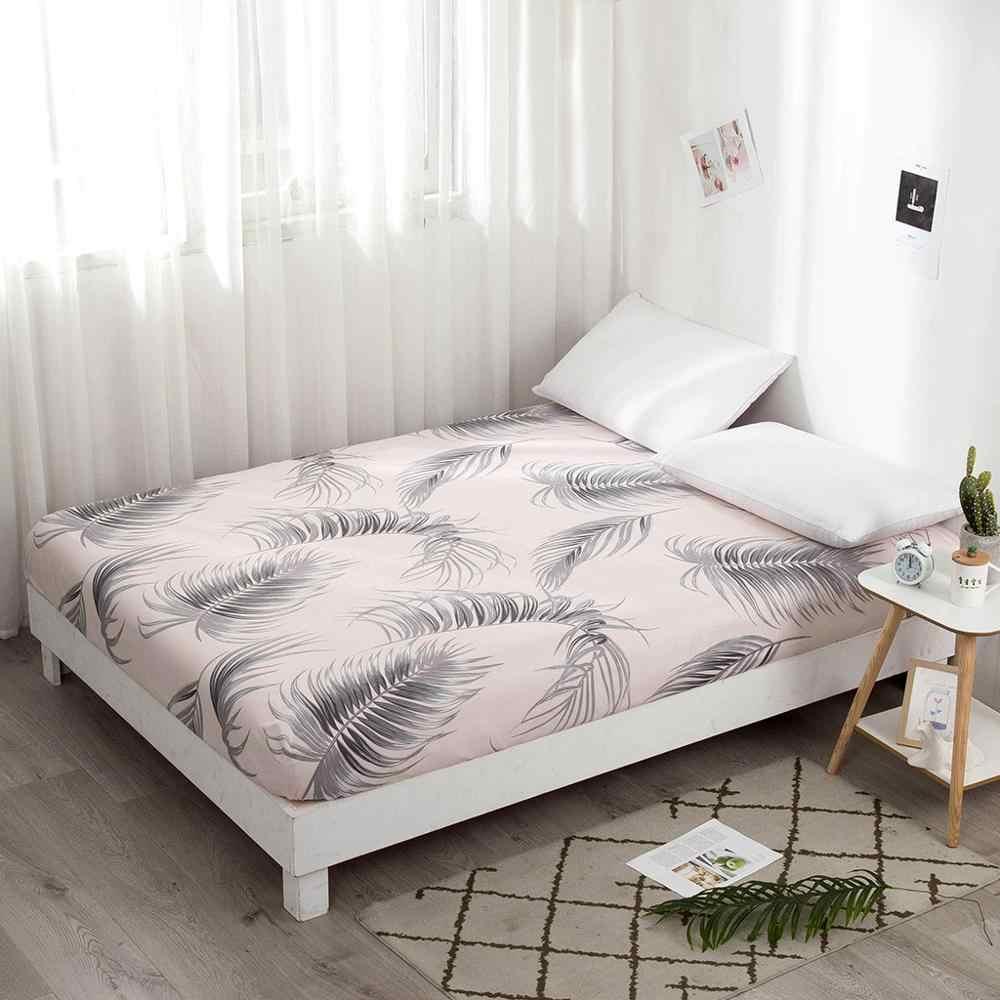 Colchão protetor de almofada capa de colchão lençol equipado separado água roupa de cama com borracha elástica funda para colchon #15