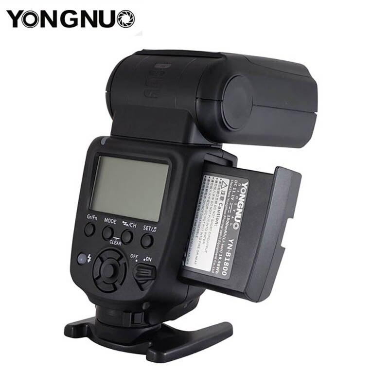 Светодиодная лампа для видеосъемки Yongnuo YN860Li Беспроводной Вспышка Speedlite с 1800 мА/ч, литий Батарея для цифровой зеркальной камеры Nikon Canon совмес