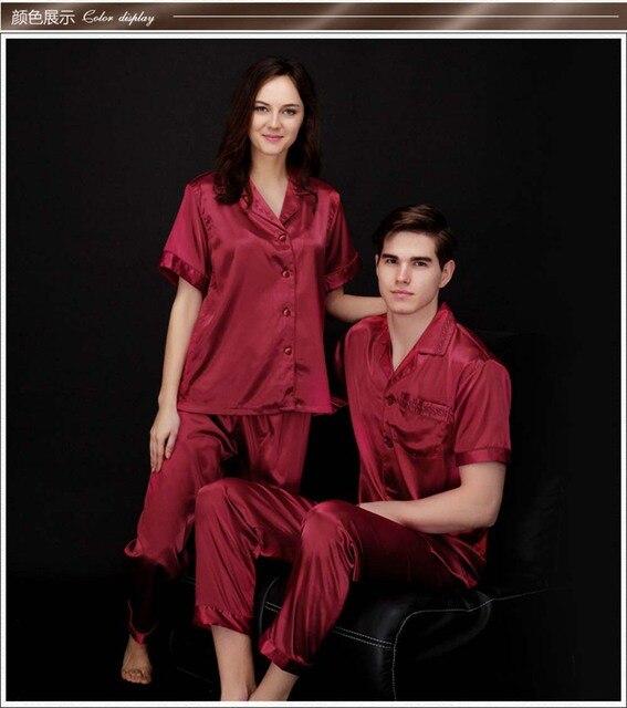 Mens Silk Satin Pajamas Set Pajama Pyjamas Sleepwear Set Loungewear M L XL Perfect Gifts Silk Nightwear Male Homewear