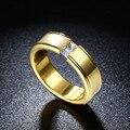 Recomendar top quality new projetado clássico titanium anéis para homens anel de ouro charme
