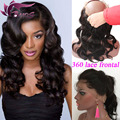 Pre Plucked 360 Lace Frontal Closure 360 Lace Virgin Hair 8A Lace Frontals With Baby Hair Natural Hairline Brazilian Body Wave