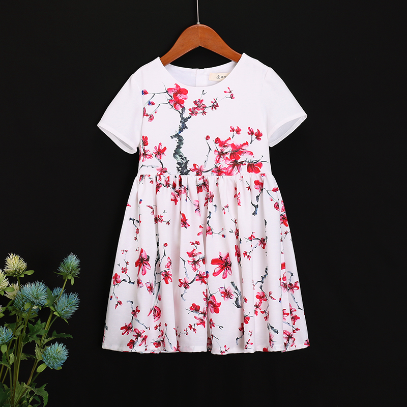 Summer Family look outfits cotton flower girls fashion dress kids clothes child princess dress matching mother daughter dresses topperr 7003