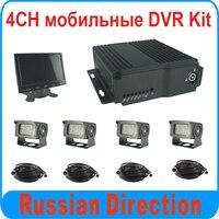 4ch 1080 pと1080N hdデュアルsdカードモバイルdvrキットサポートビデオhdmi出力