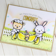 YaMinSanNiO Bunny Dies Scrapbooking Metal Cutting New 2019 Sheep Stamps and Dies Chicken Clear Stamp Crafts Dies Cuts Card Make цена