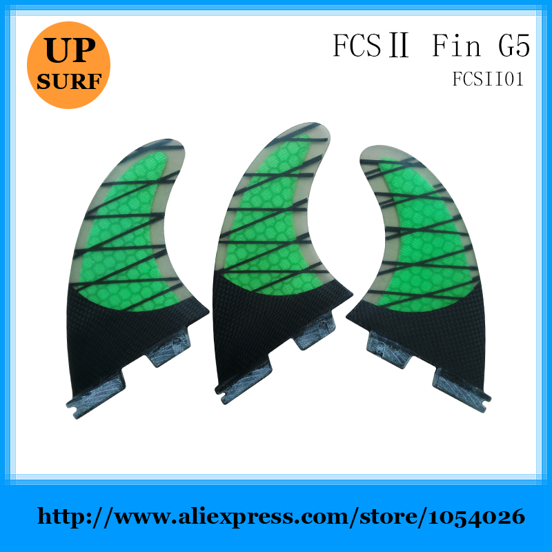 Surf Fins FCS 2 G5 Fins Yellow Honeycomb Fiberglass Fins Surf FCS II Surfboard Fin Free shipping free shipping made in china cheapest quality sup table fin system 8 centre fin and 2 pcs fcs g5