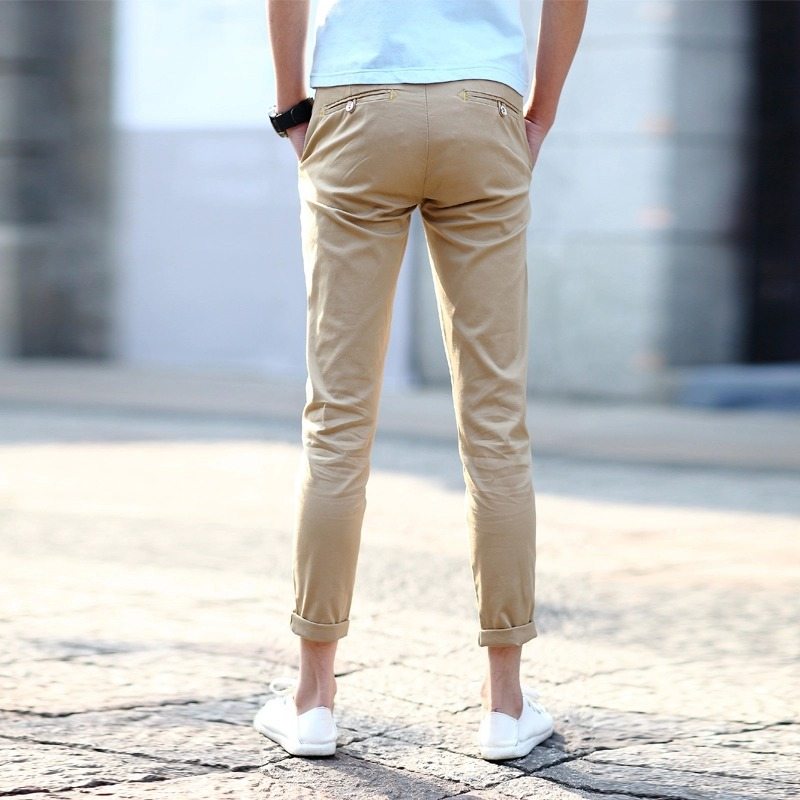Autumn Summer Men Pants 2015 England Style Skinny Cotton Pants Capris For Men Slim Fit Trousers Smart Work Pants Male Pants Hockey Pant Casualcapri Exercise Pants Aliexpress