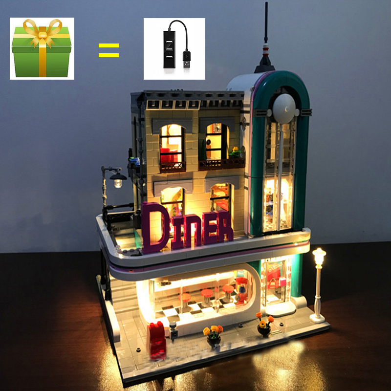 Led Light Set For Lego Building City Street 10260 Compatible 15037 Streetview Downtown Diner Blocks Creator City Street Lighting 2 pieces festo cylinder valve for pm74 sm74 heidelberg 61 184 1131