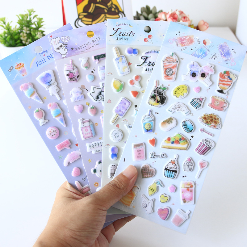 Girl Jelly Cows Bullet Journal 3D Decorative Stickers Scrapbooking Stick Label Diary Stationery Album Stickers