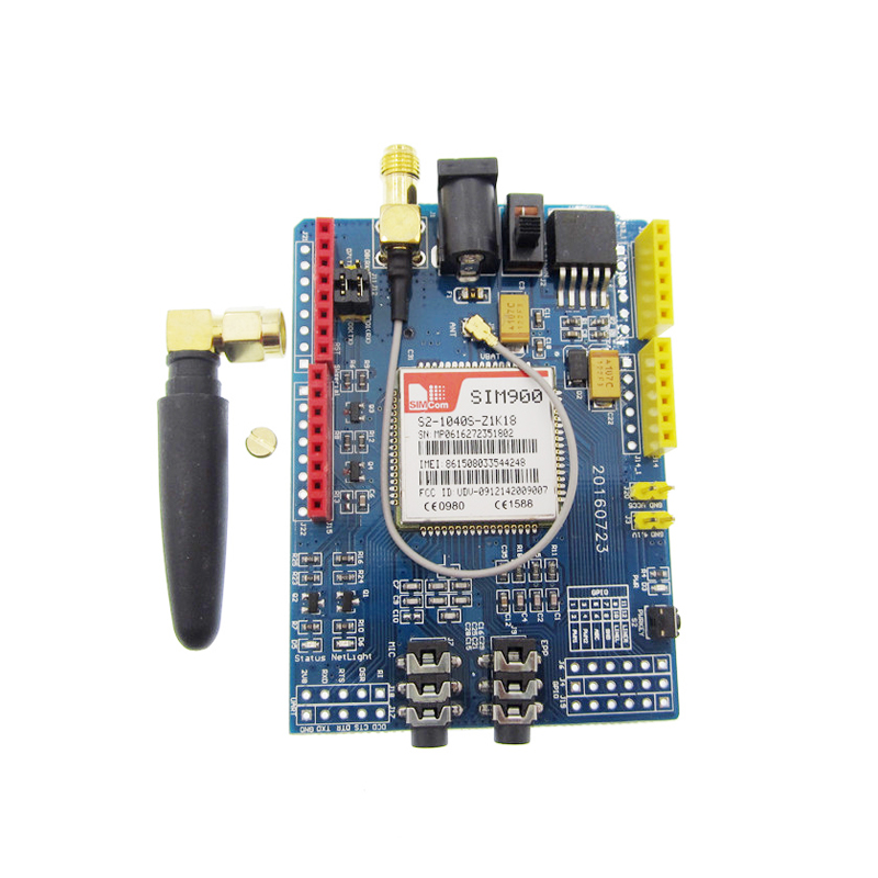 new 1PCS/LOT SIM900 GPRS/GSM Shield Development Board High Quality Give a SIM adapter soaringe updated sim900 gsm gprs v2 0 shield development doard for arduino new simcom