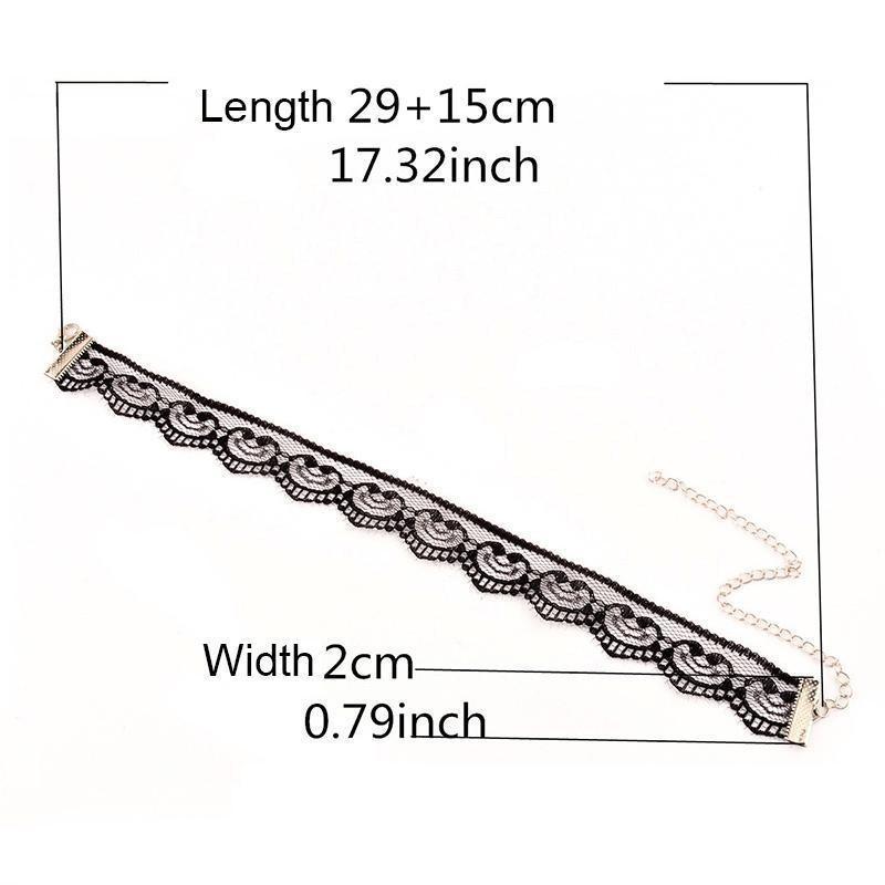 Mode Vintage Spitze Herzen Häkeln Kragen Halskette Retro Gothic Boho ...
