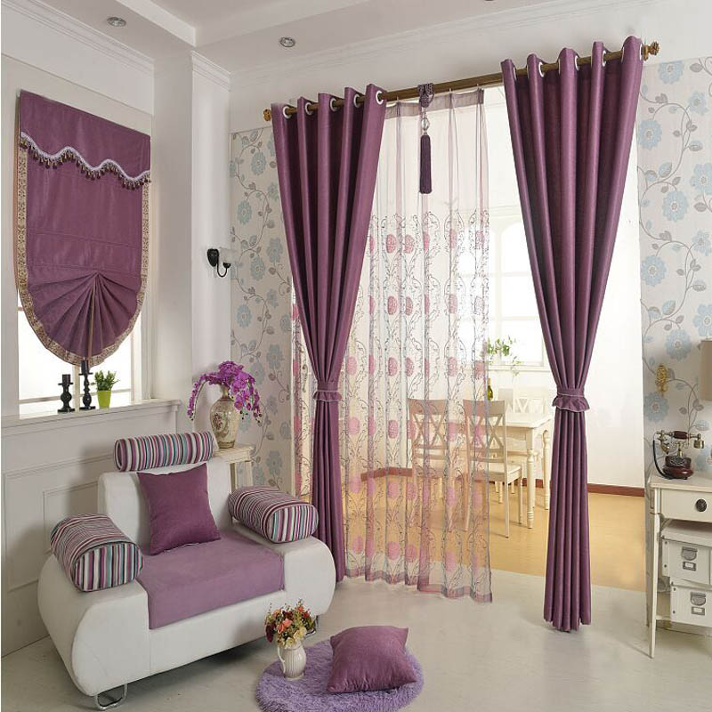 2016 New Chenille Roman Blinds 4 Colors Solid Curtains For Living Room Blackout Curtains Window