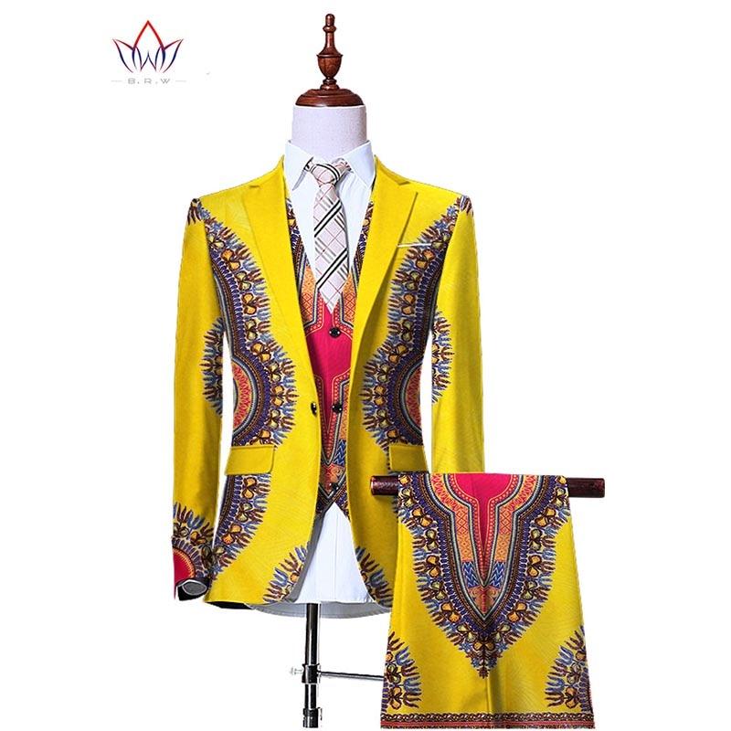 (Jacka + Vest + Byxor) Blazers for Men 3 Piece Slim Fit Cowboy - Herrkläder - Foto 4