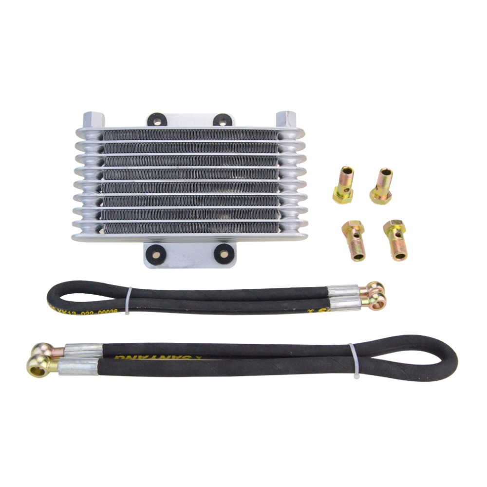 ФОТО GOOFIT motorcycle Cooling Radiator for GY6 150cc 200cc 250cc 260cc 400cc Motorcycle ATV P038-400