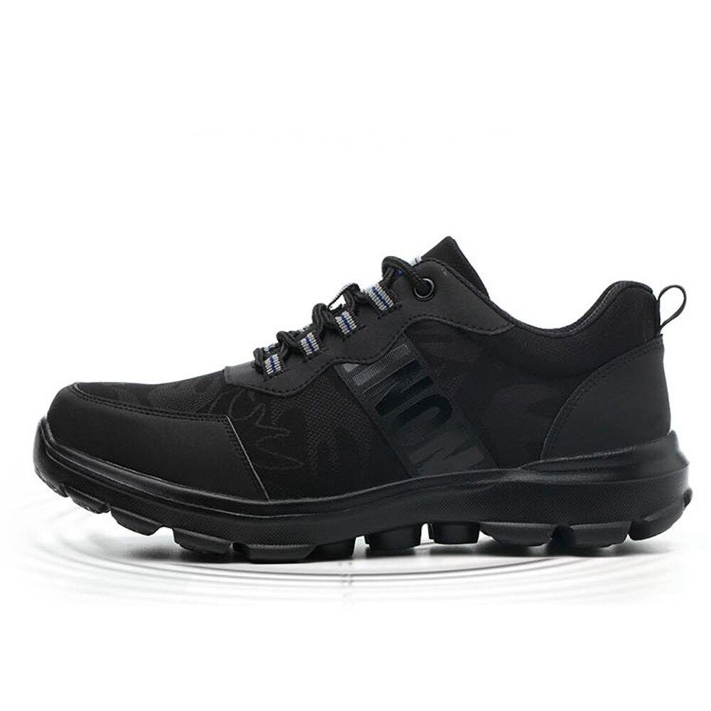 Air Plein Sécurité Travail Hommes black Léger Pour Noir Chaussures Bottines Combat Militaire Baskets Au De Femme En Indestructible Caoutchouc wOI7If