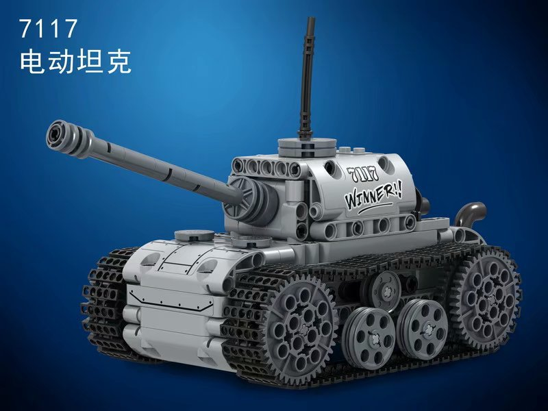 Technic Power-Driven Army Military Germany Panzer Tank Building Blocks Bricks Classic War Model Kids Toy Compatible Legoings MOC