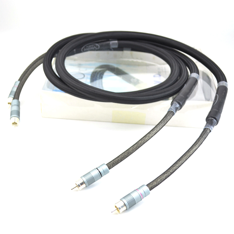 Free shipping Pair Voodoo Stradivarius Cremona Edition Interconnect cable with silver plated RCA plugs