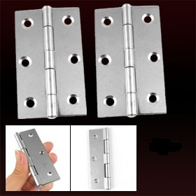 "3.5"" Length Silver Tone 300 Degree Adjustable Butt Hinge 4 Pcs"