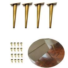 4Pcs 7,8 H Gold bronze Möbel Schrank Schrank Metall Beine Tisch füße (200mm)  Verified Labor Test Unterstützt + 1600 £