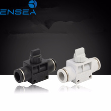 цена на Air Pneumatic Hand Valve Fitting 10mm 8mm 6mm 12mm OD Hose Pipe Tube Push Into Connect T-joint 2-Way Flow Limiting Speed Control