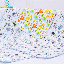 MOOB Baby Nappy Changing Pad Cotton 3 Size Baby Waterproof Mattress Bed Sheet Newborn Nappy Cover Pad Portable Foldable Washable(China)