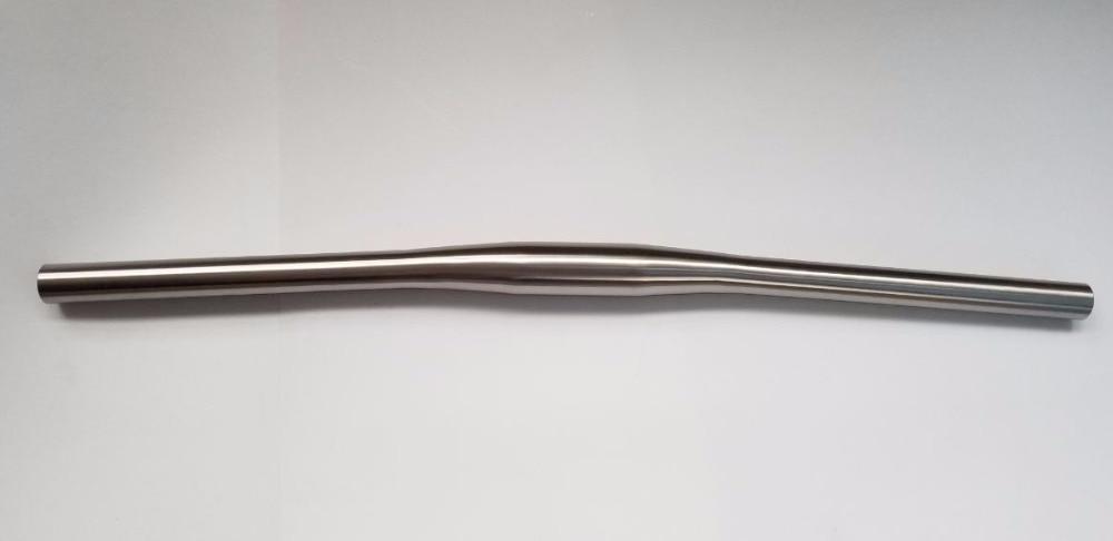 free shipping of MTB Titanium bike handlebar flat handlebar 31 8 or 25 4 600