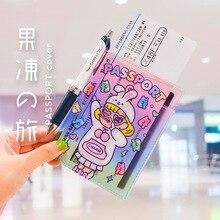 Cute Transparent Jelly Passport Cover Case Unicorn Passport Holder Girl Waterproof Waterproof