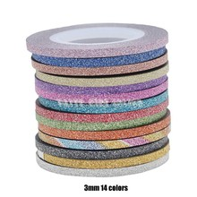 1 рулон многоцветный 3 размера Блестящий Матовый хорошая текстура дизайн ногтей стрипинг линия клейкая лента металлическая нить наклейки стикер