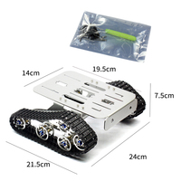 RC Aluminum Alloy Tank Chassis Wall e Caterpillar Tractor Crawler Intelligent Robot Car Mount 210*140*140*75mm