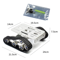 RC Aluminum Alloy Tank Chassis Wall e Caterpillar Tractor Crawler Intelligent Robot Car Mount 210*140*140*75mm