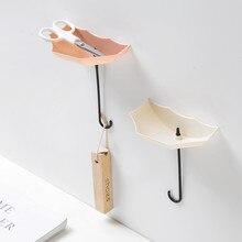 Ganci da parete 2019 3 pz/set Carino Ombrello Montaggio A Parete Chiave del Supporto A Parete Hook Hanger Organizzatore Durevole