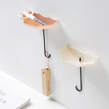 Wall hooks 2019 3pcs/set Cute Umbrella Wall Mount Key Holder Wall Hook Hanger Organizer Durable