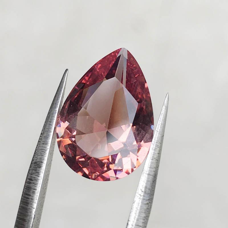CSJ Created Diaspore Zultanite Pear Cut Loose Gemstone Sultanite For Diy Fine Jewelry 925 Silver Mounting Color Change Stone