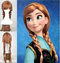 2016 HOT! dropshipping wig popular cartoon girl Hair Wigs children Cosplay Wigs Elsa / Anna princess white fluffy long hair