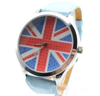 Watch Quartz Leather-Band Mens Women New-Fashion 1pcs/Lot Flag United-Kingdom Britain