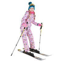 Dollplus Winter Sport Ski Suit for Girls Outdoor Warm Children Clothing Set Windproof Jackets + Pants Teens Kids Snow Sets