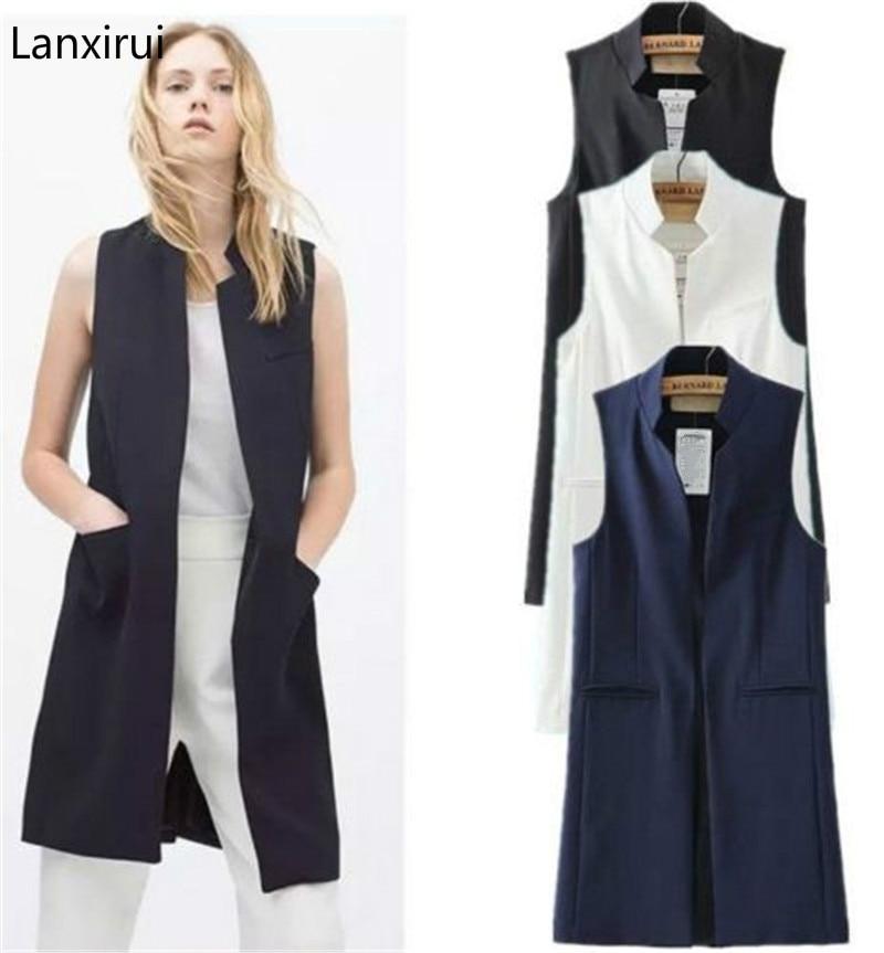 Women 39 S Clothing Female Vest Coat Europen Style Fashion Waistcoat Sleeveless Jacket Back Split Outwear Ve062 in Vests amp Waistcoats from Women 39 s Clothing
