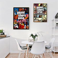 GTA 5 San Andreas Vice City Vintage Canvas Art Print Painting Poster Wall Pictures For Room Home Decoration Decor No Frame