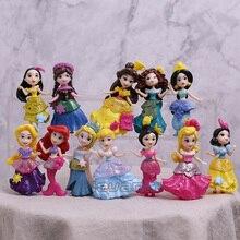 Фигурки принцесс игрушки Белоснежка Мерида Мулан куклы-русалки детские игрушки для девочек детей 12 шт./компл. 8 см