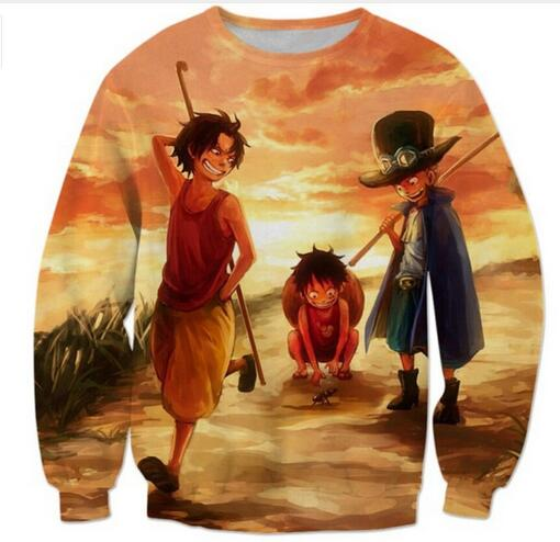 Hot Sale 2017 Funny Anime One Piece Monkey D Luffy/roronoa Zoro 3d Sweatshirt Hoodie Hoodies Pullovers Women Men Outerwear Clothing R3807 Easy To Lubricate Women's Clothing
