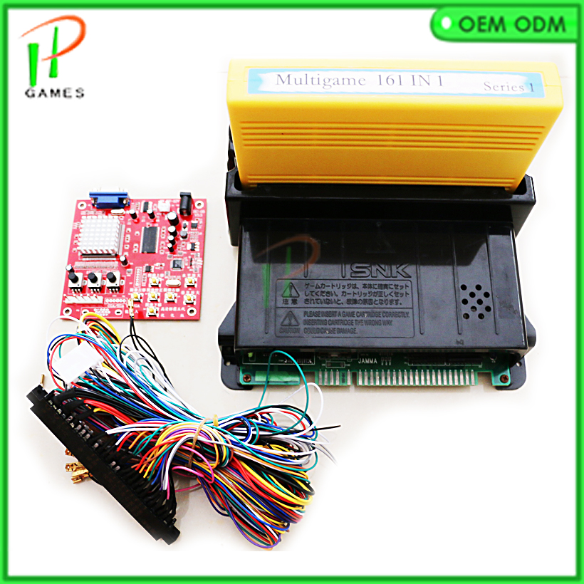 SNK Neo Geo Mvs 161 In 1 JAMMA Multi Game Cartridge For SNK Game Pcb Board With Mother Board 28 Pin Wire