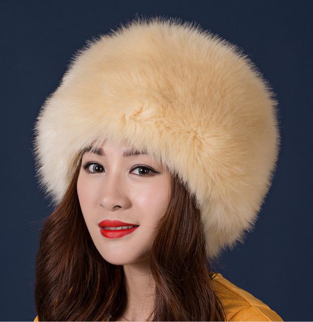 Frete Grátis inverno Quente imitação de pele de raposa chapéu de pele de vison chapéu feminino chapéu do inverno lazer selvagem modelos femininos Personalidade Natal