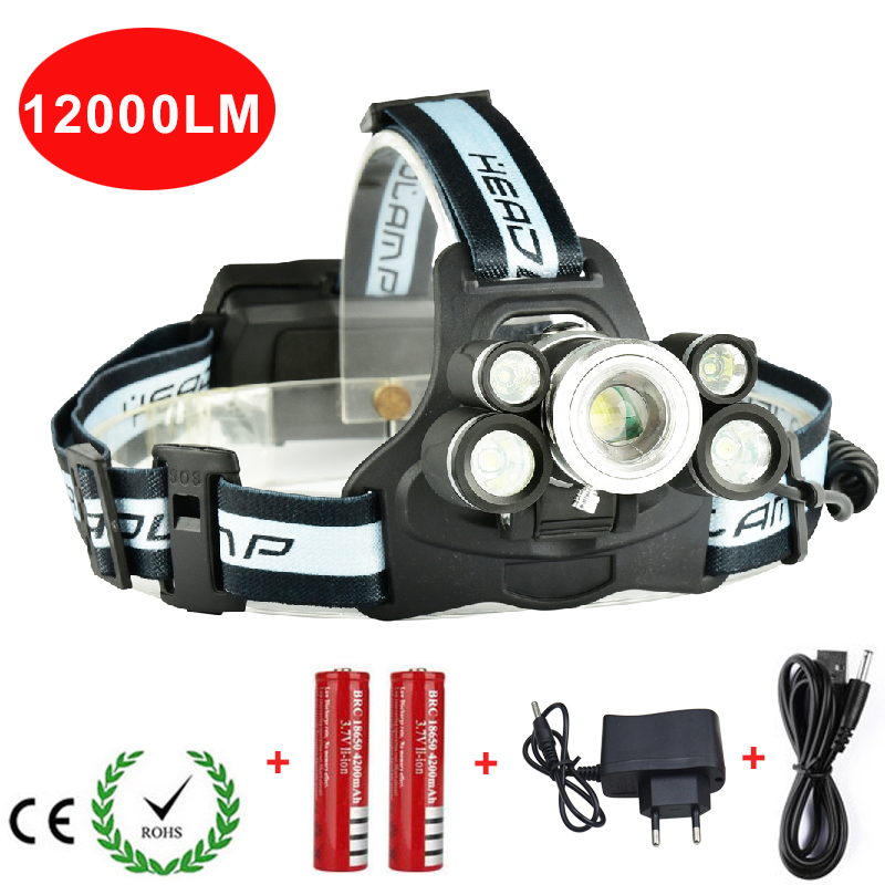 LED Headlight Rechargeable Zoomable Headlamp Outdoor Camping Multi-purpose Bike LED Head Light For Batteries And Charger z35