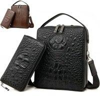 Men's Crossbody Bag Men Messenger Bags Genuine Crocodile Leather Handbags Luxury Brand Men Bag Shoulder Bags Designer Handbags