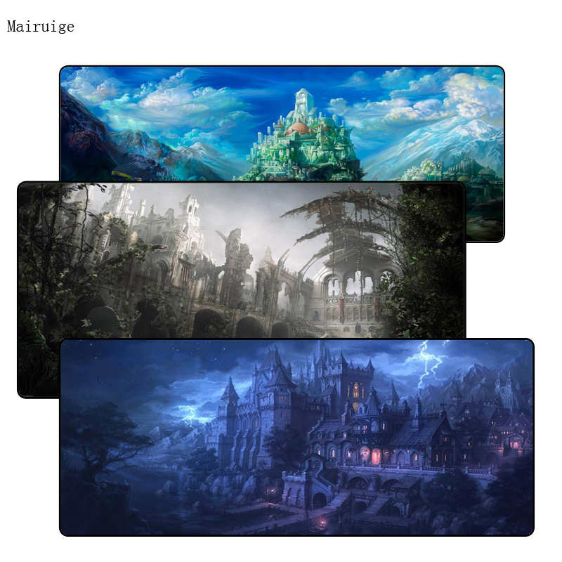Mairuige Free Shipping Fantasy Mouse Pad Gamer 900x400mm Notbook Mouse Mat Large Lock Edge Gaming Mousepad  PC Desk Padmouse