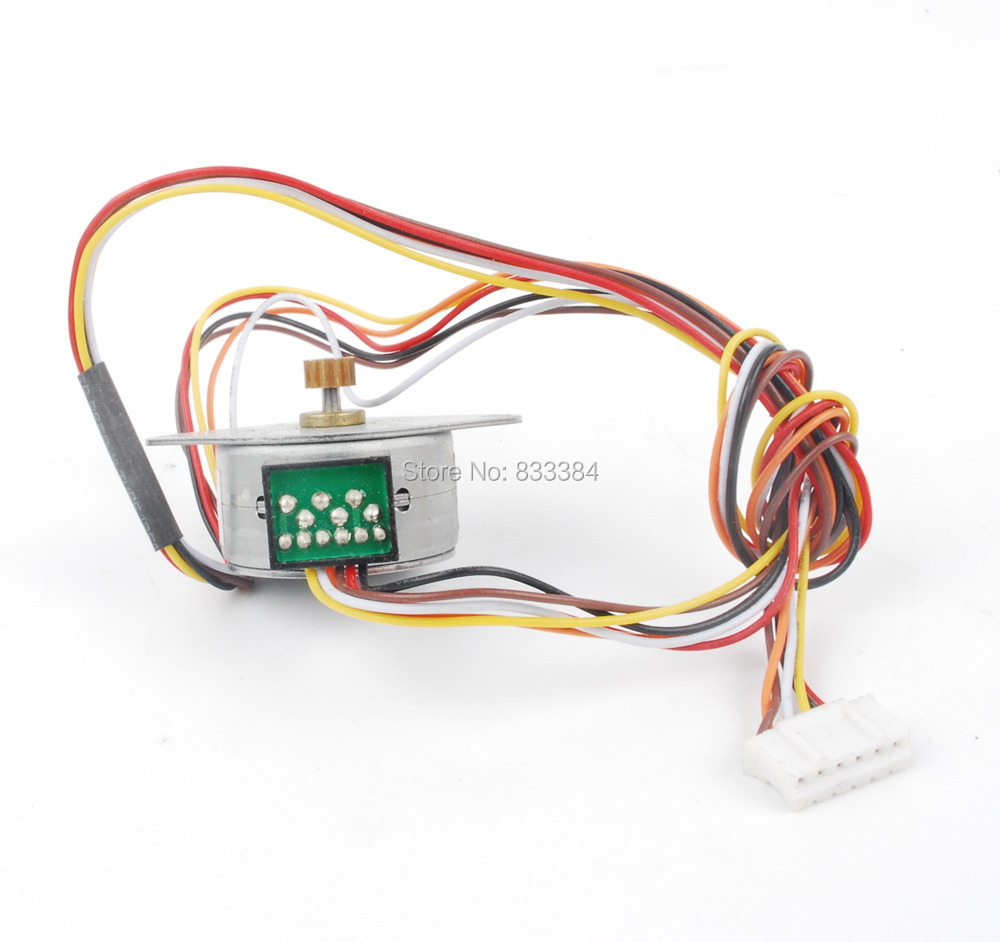 hight resolution of 2pcs 24v dc 400ma 2 phase 6 wire stepper motor stepper angel 7 5 degeree 250g cm dia 25mm
