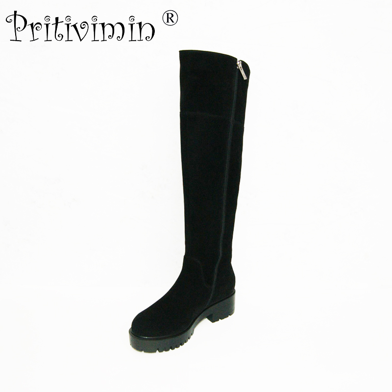 Pritivimin FN77B women winter warm real wool fur lined shoes Ladies leather botte girls over the knee high boots factory direct pritivimin fn81 winter warm women real wool fur lined shoes ladies genuine leather high boot girl fashion over the knee boots