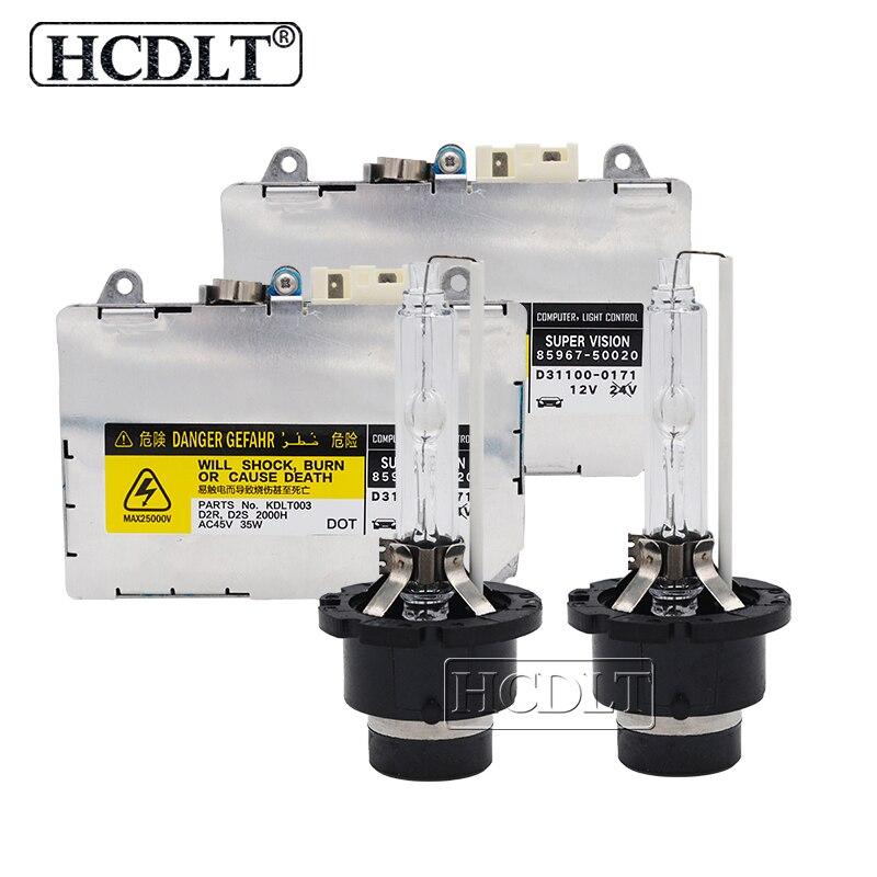 HCDLT Original 35W 6000K D2S Xenon HID Kit D4S 4300K 5000K 8000K Car Light Xenon Ballast